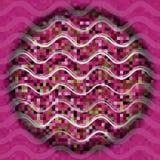 Abstrakte Wellenlinie nahtloses Muster Feiertagskreishintergrund Stockbild