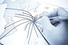 Abstrakte Weltkarte mit Kontinent Lizenzfreies Stockbild