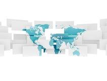 Abstrakte Weltkartenabbildung Stockfotografie