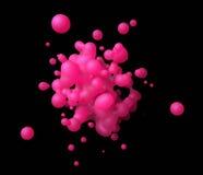 Abstrakte Wiedergabe 3D der Fliegen-Flüssigkeit Stockfoto