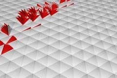 Abstrakte Wiedergabe 3d der weißen Oberfläche Lizenzfreie Stockfotografie