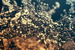 Abstrakte Wiedergabe 3D von Flugteilchen Stockfoto