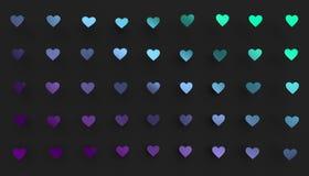 Abstrakte Wiedergabe 3D von Herz-Formen Stockfotografie
