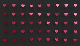 Abstrakte Wiedergabe 3D von Herz-Formen Lizenzfreie Stockfotos