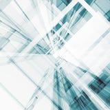 Abstrakte Wiedergabe der Architektur 3d Stockbild