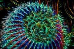 Abstrakte Wiedergabe des Fass-Kaktus stock abbildung