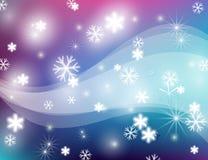 Abstrakte Winterkarte Lizenzfreie Stockfotos