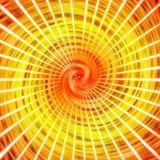 Abstrakte wirbelnde Beschaffenheit im roten, orange und gelben Hintergrund vektor abbildung