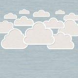 Abstrakte Wolke auf blauem Hintergrund lizenzfreie abbildung