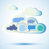 Abstrakte Wolkendatenverarbeitung Stockfotografie
