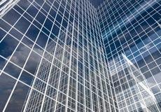 Abstrakte Wolkenkratzer, Illustration des Volumens 3D Stockbilder