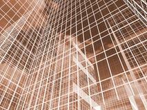 Abstrakte Wolkenkratzer, Illustration des Volumens 3D Lizenzfreie Stockfotografie