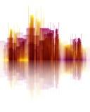 Abstrakte Wolkenkratzerszene Stockfotos