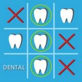 Abstrakte zahnmedizinische Illustration von Zähnen stock abbildung