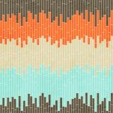 Abstrakte Zellnahtloses Muster mit Schmutzeffekt Lizenzfreie Stockfotos