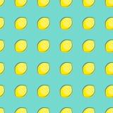 Abstrakte Zitronen-nahtlose Muster-Hintergrund-Vektor-Illustration Stockfoto