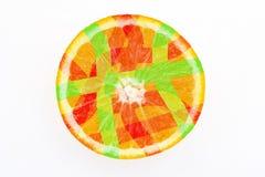 Abstrakte Zitrusfrucht Stockfotografie