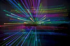 Abstrakte Zoomeffekte mit Weihnachtsbaumlichtern lizenzfreie stockfotos
