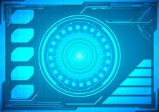 Abstrakte Zukunft, futuristische blaue virtuelle Grafik des Konzeptvektors Stockfoto