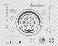 Abstrakte Zukunft, Noten-Benutzerschnittstelle HUD des Konzeptvektors futuristische blaue virtuelle grafische Für Netz Standort,  lizenzfreie abbildung