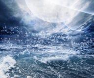 Abstrakte Zusammenarbeit des Wassers und der Planeten stockbilder