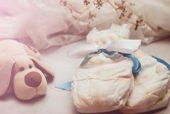 Abstrakte Zusammensetzung für neugeborenes Kind Stockfotografie
