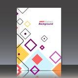 Abstrakte Zusammensetzung, geometrische Formikone, Rautenverzierung Lizenzfreies Stockfoto