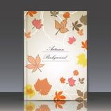 Abstrakte Zusammensetzung, Herbstereigniskarte, verlässt Themaanzeige Stockfoto