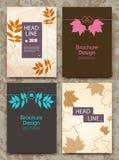 Abstrakte Zusammensetzung, Herbstereigniskarte, verlässt Themaanzeige, Verkaufs-herausrabattzertifikat, Freigabenflieger Lizenzfreie Stockbilder