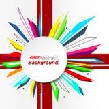 Abstrakte Zusammensetzung Minimalistic-Mode-Hintergrunddesign Kreisexplosionsikone Markenlogo Fleckenband-Gussbeschaffenheit Lizenzfreies Stockbild