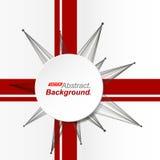 Abstrakte Zusammensetzung Minimalistic-Mode-Hintergrunddesign Kreisexplosionsikone Markenlogo Rote Bandgussbeschaffenheit Lizenzfreie Stockfotos