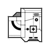 Abstrakte Zusammensetzung mit futuristischen techno Elementen vektor abbildung