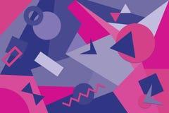 Abstrakte Zusammensetzung mit geometrischen Formen lizenzfreie abbildung
