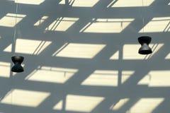 Abstrakte Zusammensetzung mit Lampe und Schatten Lizenzfreie Stockfotografie