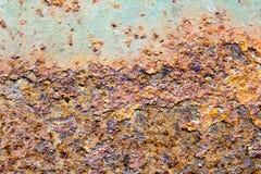 Abstrakte Zusammensetzung mit metallischer Beschaffenheit mit Rost Lizenzfreie Stockbilder