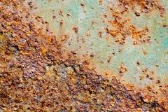 Abstrakte Zusammensetzung mit metallischer Beschaffenheit mit Rost Lizenzfreies Stockbild