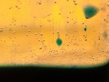 Abstrakte Zusammensetzung mit Mischung des Öls, des Wassers und der bunten Tinte Lizenzfreie Stockbilder