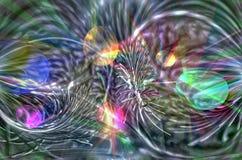 Abstrakte Zusammensetzung mit Nadelelementen Stockfoto