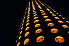 Abstrakte Zusammensetzung mit orange Kreisen auf a Stockbild