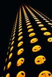 Abstrakte Zusammensetzung mit orange Kreisen auf a Stockfotos