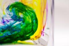 Abstrakte Zusammensetzung mit Tinte und kleinen Blasen Stockbilder