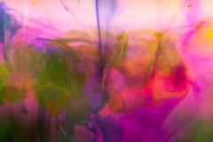 Abstrakte Zusammensetzung mit Tinte und kleinen Blasen Lizenzfreie Stockfotografie