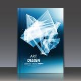 Abstrakte Zusammensetzung, polygonale Bau-, Verbindungspunkte und Linien, Titelblatt der Broschüre a4, Raumhintergrund, Laserlich Stockfotografie