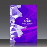 Abstrakte Zusammensetzung, polygonale Bau-, Verbindungspunkte und Linien, Titelblatt der Broschüre a4, Raumhintergrund, Laserlich Lizenzfreie Stockfotografie