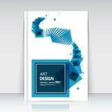Abstrakte Zusammensetzung, quadratische Textrahmenoberfläche, weißes Titelblatt der Broschüre a4, kreative Zahl, Logozeichenbau,  Stockbild