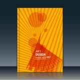 Abstrakte Zusammensetzung, runde Textrahmenoberfläche, gelbes Titelblatt der Broschüre a4, kreative Zahl, Logozeichenbau, festes  Lizenzfreie Stockbilder