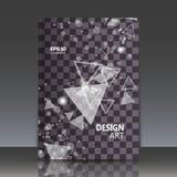 Abstrakte Zusammensetzung, Tessellationsguß, fliegende geometrische Formen Hintergrund, Zahl Interlacementikone, Logobau Stockfoto