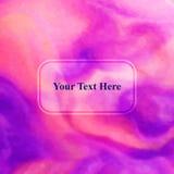 Abstrakte Zusammensetzung Textrahmenoberfläche, Abdeckungsdesign Polygonale Raumikone Vektortitelseiteguß Anzeigenfahnenform lizenzfreie abbildung