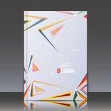 Abstrakte Zusammensetzung, Titelblatt der Broschüre a4, geometrische Form, Linie Verzierung, anschließendes Dreieck, Logobauhinte Stockbild
