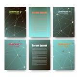 Abstrakte Zusammensetzung, Visitenkartesatz, Korrespondenzbuchstabesammlung, Broschürentitelblatt, Zertifikat, Diplom, Patent, ch Stockbilder